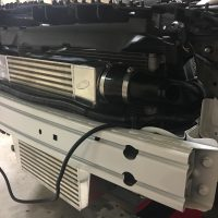 Huge front mount intercooler.