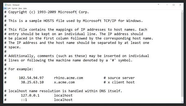 Editing C:\Windows\System32\drivers\etc file!